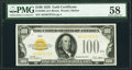 Small Size:Gold Certificates, Fr. 2405 $100 1928 Gold Certificate. PMG Choice About Unc 58.. ...