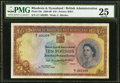 World Currency, Rhodesia and Nyasaland Bank of Rhodesia and Nyasaland 10 Pounds 15.8.1958 Pick 23a PMG Very Fine 25.. ...