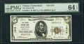 Clinton, CT - $5 1929 Ty. 1 The Clinton National Bank Ch. # 1314 PMG Choice Uncirculated 64 EPQ