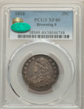 1818 25C B-8, R.3, XF40 PCGS. CAC. PCGS Population: (3/8 and 0/0+). NGC Census: (2/5 and 0/0+). XF40. Mintage 361,174. &...