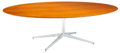 Furniture, A Florence Knoll Walnut and Chrome Dining Table, designed 1961, circa 1973. 27-7/8 x 95-3/4 x 54-1/8 inches (70.8 x 243.2 x ...