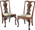 Furniture, A Pair of Queen Anne-Style Side Chairs, mid-19th century . 38-1/4 x 21-1/2 x 20-1/4 inches (97.2 x 54.6 x 51.4 cm). ... (Total: 2 Items)