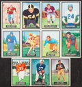 Football Cards:Sets, 1951 Topps Magic Football Complete Set (75). ...