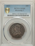 Bust Quarters, 1821 25C B-2, High R.4, XF40 PCGS. PCGS Population: (2/5 and 0/0+). NGC Census: (0/4 and 0/0+). XF40. Mintage 216,851.. ...