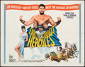"Movie Posters:Comedy, The Three Stooges Meet Hercules (Columbia, 1962). Folded, Fine/Very Fine. Half Sheet (22"" X 28""). Comedy.. ..."