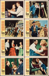 "4 for Texas & Other Lot (Warner Bros., 1964). Fine/Very Fine. Lobby Card Sets of 8 (2 Sets) (11"" X 14""..."