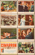 "Movie Posters:Western, Cimarron & Other Lot (MGM, 1960). Fine+. Lobby Card Sets of 8 (2 Sets) (11"" X 14""). Western.. ... (Total: 16 Items)"