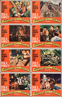 The Greatest Show on Earth & Other Lot (Paramount, R-1967). Fine/Very Fine. Lobby Card Sets of 8 (2 Sets) &a...