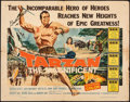"Movie Posters:Adventure, Tarzan the Magnificent (Paramount, 1960). Folded, Fine-. Autographed Half Sheet (22"" X 28""). Adventure.. ..."
