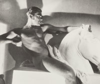 George Hoyningen-Huene (Russian, 1900-1968) Horst in the Pose of an Ancient Greek Horseman, 1932 Gel