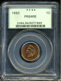 Proof Indian Cents: , 1892 1C PR64 Red and Brown PCGS....