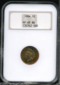 Proof Indian Cents: , 1904 1C PR65 Red NGC....