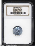 Lincoln Cents: , 1943-D/D 1C MS66 NGC....