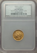 1850-O $2 1/2 -- Improperly Cleaned, Scratched -- NCS. AU Details. Ex: Eliasberg. NGC Census: (44/213). PCGS Population:...