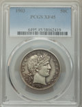 Barber Half Dollars: , 1903 50C XF45 PCGS. PCGS Population: (28/165). NGC Census: (7/83). XF45. Mintage 2,278,755. ...