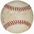 Autographs:Baseballs, 1940 Pittsburgh Pirates Team Signed Baseball with Honus Wagner (21 Signatures)....