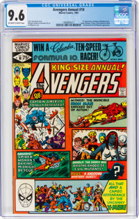 The Avengers Annual #10 (Marvel, 1981) CGC NM+ 9.6 Off-white to white pages