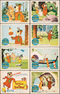 Movie Posters:Animation, Hey There, It's Yogi Bear & Other Lot (Columbia, 1964). Fine+. Lobby Card Set of 8, Title Lobby Cards (2), Lobby Cards (6) (... (Total: 16 Items)