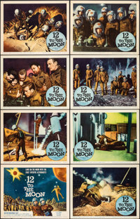 "12 to the Moon (Columbia, 1960). Very Fine-. Lobby Card Set of 8 (11"" X 14""). Science Fiction. ... (Total: 8 I..."