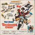 "Movie Posters:Comedy, Blackbeard's Ghost (Buena Vista, 1968). Folded, Fine-. Six Sheet (83.25"" X 83.5""). Comedy.. ..."