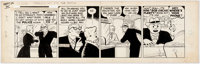 Chester Gould Dick Tracy Daily Comic Strip Original Art dated 9-22-45 (Chicago Tribute Syndicate, 1945)
