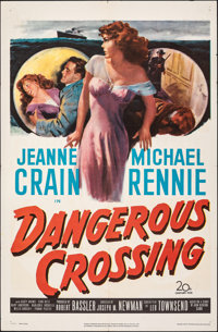 "Dangerous Crossing & Other Lot (20th Century Fox, 1953). Folded, Fine/Very Fine. One Sheets (2) (27"" X 41&q..."
