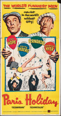 """Movie Posters:Comedy, Paris Holiday (United Artists, 1958). Folded, Fine+. Three Sheet (41"""" X 78.75""""). Comedy.. ..."""