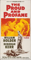 "Movie Posters:War, The Proud and Profane & Other Lot (Paramount, 1956). Folded, Overall: Fine+. Three Sheet (41"" X 79"") & One Sheet (26...."
