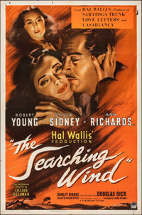 """The Searching Wind (Paramount, 1946). Folded, Fine/Very Fine. One Sheet (27"""" X 41"""") & Lobby Card Set of 8..."""