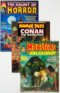 Assorted Science Fiction and Horror Magazines Box Lot (Various Publishers, 1970s) Condition: Average VF+.... (Total: 83...