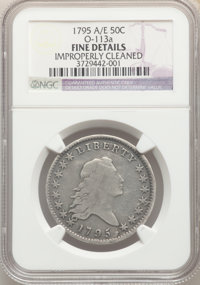 1795 50C 2 Leaves -- Improperly Cleaned -- NGC Details. Fine. NGC Census: (113/422). PCGS Population: (264/867). Fine 12...