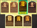Autographs:Post Cards, Baseball Hall of Fame Post Card Plaque Signed Collection (32)....