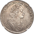 Russia, Russia: Peter I Rouble 1724 AU53 NGC,...