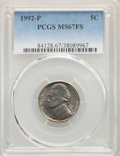 1992-P 5C MS67 Full Steps PCGS. PCGS Population: (5/0). NGC Census: (1/0). CDN: $1,500 Whsle. Bid for problem-free NGC/P...