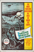 """Movie Posters:Fantasy, The Fabulous World of Jules Verne (Warner Bros., 1961). Folded, Fine/Very Fine. One Sheet (27"""" X 41"""") & Lobby Cards (7) (11""""... (Total: 8 Items)"""