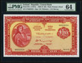 World Currency, Ireland Central Bank of Ireland 20 Pounds 14.3.1973 Pick 67b PMG Choice Uncirculated 64.. ...