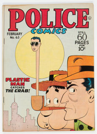 Police Comics #63 Double Cover (Quality, 1947) Condition: FN+