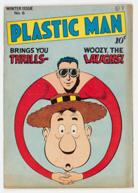 Plastic Man #6 (Quality, 1947) Condition: FN-