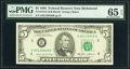 Small Size:Federal Reserve Notes, Fr. 1978-E $5 1985 Federal Reserve Note. PMG Gem Uncirculated 65 EPQ.. ...