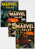 Golden Age (1938-1955):Horror, Marvel Tales #110, 118, and 121 Group (Atlas, 1952-54) Condition: Average GD/VG.... (Total: 3 Comic Books)