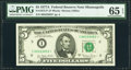 Small Size:Federal Reserve Notes, Fr. 1975-I* $5 1977A Federal Reserve Star Note. PMG Gem Uncirculated 65 EPQ.. ...