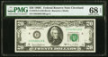 Fr. 2070-D $20 1969C Federal Reserve Note. PMG Superb Gem Unc 68 EPQ