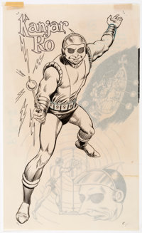 "Murphy Anderson Who's Who: The Definitive Directory of the DC Universe #12 ""Kanjar Ro"" Illustration Original A..."