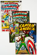 Silver Age (1956-1969):Superhero, Captain America Short Box Group (Marvel, 1968-78) Condition: Average VG/FN....