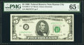 Fr. 1969-J* $5 1969 Federal Reserve Star Note. PMG Gem Uncirculated 65 EPQ