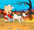 """Animation Art:Limited Edition Cel, Porky Pig """"A Groundhog's Day"""" Limited Edition Cel, AP 10/15 (Warner Brothers, 1993). ..."""