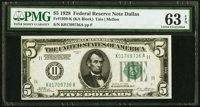 Fr. 1950-K $5 1928 Federal Reserve Note. PMG Choice Uncirculated 63 EPQ