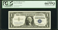 Error Notes:Mismatched Serial Numbers, Mismatched Serial Numbers Error Fr. 1619 $1 1957 Silver Certificate. PCGS Gem New 66PPQ.. ...