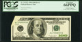 Foldover Error. 2175-L $100 1996 Federal Reserve Note. PCGS Gem New 66PPQ
