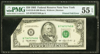 Printed Foldover Error Fr. 2125-B $50 1993 Federal Reserve Note. PMG About Uncirculated 55 EPQ